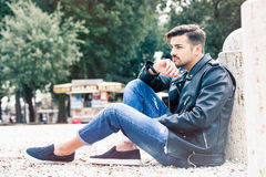 Free Handsome Gorgeous Young Man Model Outdoors Royalty Free Stock Photo - 66741075