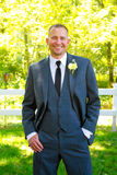 Handsome Groom Portrait on Wedding Day Royalty Free Stock Images