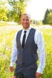 Handsome Groom Portrait on Wedding Day Stock Images
