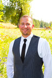 Handsome Groom Portrait on Wedding Day Royalty Free Stock Photography