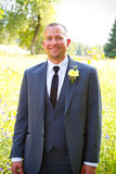 Handsome Groom Portrait on Wedding Day Stock Photography