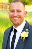 Handsome Groom Portrait on Wedding Day Royalty Free Stock Photo