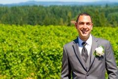Handsome Groom Wedding Day Stock Photos