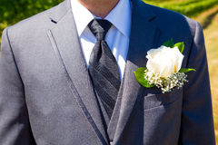 Handsome Groom Wedding Day Stock Photos