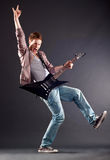 Handsome guitarist Royalty Free Stock Photo