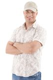 Handsome guy in baseball cap Royalty Free Stock Images