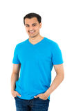 Handsome guy in blue shirt Royalty Free Stock Image