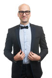 Handsome guy with bow-tie Royalty Free Stock Image