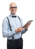 Handsome guy with digital tablet Stock Images