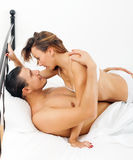 Handsome guy having sex with woman Royalty Free Stock Image
