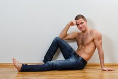Handsome guy in jeans Royalty Free Stock Photos