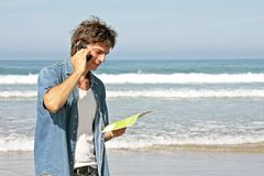 Handsome guy making a phone call Royalty Free Stock Image