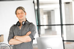 Handsome guy at office Stock Image