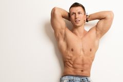 Handsome guy with perfect body Royalty Free Stock Photo