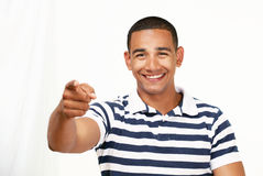Handsome Guy Pointing At You Stock Images