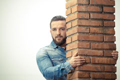 Handsome guy posing Stock Photography