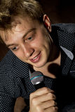 Handsome guy singing Royalty Free Stock Images