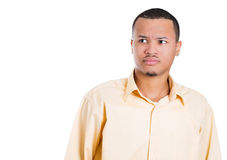 A handsome guy skeptical or doubtful about something Royalty Free Stock Images