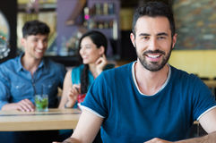 Handsome guy smiling Stock Photography
