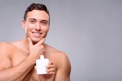 Handsome guy taking care of himself Royalty Free Stock Photo