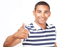 Handsome guy thumbs up Stock Photo