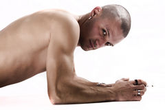 Handsome Guy Torso. Handsome young man with beautiful athletic body Stock Photos