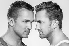 Handsome guys at home Royalty Free Stock Images
