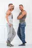 Handsome guys at home Royalty Free Stock Photos