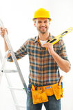 Handsome and handy. Royalty Free Stock Photo
