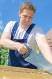 Handsome handyman Stock Images