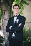Handsome happy groom Stock Photography