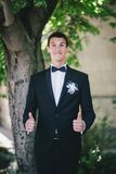 Handsome happy groom Royalty Free Stock Photo