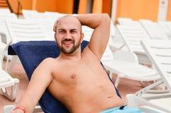 Handsome happy  man Stock Photos