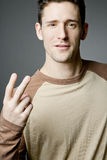 Handsome happy man wearing casual cloths. Stock Photography