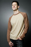 Handsome happy man wearing casual cloths. Royalty Free Stock Image