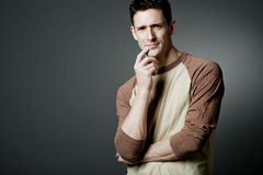 Handsome happy man wearing casual cloths. Royalty Free Stock Photos