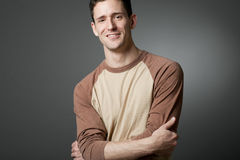 Handsome happy man wearing casual cloths. Stock Image