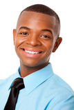 Handsome happy young business man stock photography
