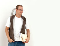 Handsome happy young student Royalty Free Stock Photos