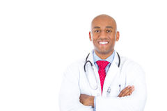 Handsome health care professional or doctor or nurse with stethoscope, arms folded Stock Photo