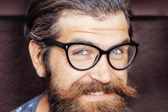 Handsome hipster in glasses Royalty Free Stock Image