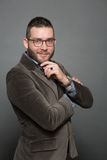Handsome hipster man in glasses Stock Photo