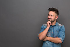 Handsome hipster man Stock Images