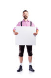 Handsome hipster man in traditional bavarian clothes, studio sho Royalty Free Stock Photos