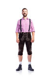 Handsome hipster man in traditional bavarian clothes,  Royalty Free Stock Photography