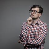 Handsome hipster modern man. Stock Photo