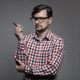 Handsome hipster modern man. Stock Images