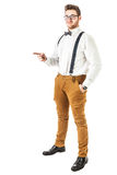 Handsome Hipster pointing Royalty Free Stock Images