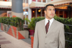 Handsome Hispanic businessman Stock Image