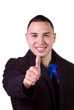 Handsome Hispanic Businessman Giving the Thumbs Up Royalty Free Stock Photos